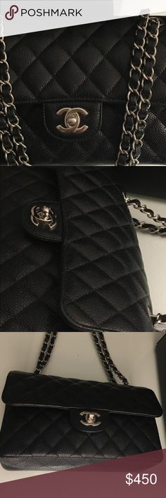 Chanel Caviar Quilted Caviar bag Black quilted chanel Bag! Very good quality.. (inspired) CHANEL Bags Shoulder Bags