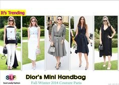 Dior Mini handbag is Trending at Fall Winter 2014 #Paris Haute Couture Fashion Week Front-Row. #handbag #FW2014 #couture #tote #totebag