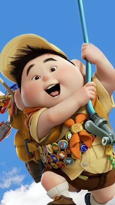 Disney iphone wallpapers: russell from up up movie quotes, pixar quotes, disney movie Disney Up, Disney Pixar, Film Disney, Disney Animation, Disney Cartoons, Disney Movies, Best Iphone Wallpapers, Movie Wallpapers, Cute Cartoon Wallpapers