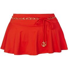 Juicy Couture Siren Chain Skirt ($120) ❤ liked on Polyvore
