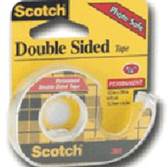 Scotch Double Sided Tape, 1/2 inches X 250 inches - 1 Roll |  Scotch Double Sided Tape is coated with photo safe,  permanent adhesive on both sides. myotcstore.com - Ezy Shopping, Low Prices & Fast Shipping.