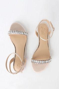 ebfb49dafa45 Dalinda Champagne Satin Rhinestone Flat Sandals Flat Sandals
