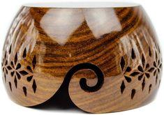 Wooden Lattice Yarn Bowl for Knitting Crochet Holderl with | Etsy Handmade Wooden, Handmade Items, Wooden Yarn Bowl, Yarn Storage, Hand Dyed Yarn, Crochet Accessories, Wood Blocks, Knit Crochet, Carving