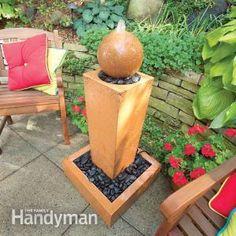 [Tutorial] How to cast a concrete fountain, using QUIKRETE®.  #DIY #tutorial #outdoor #Patio #Concrete #Cement #fountain #furnishings #garden