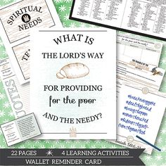 """This November """"Come Follow Me"""" teaching package helps you teach your LDS young women, young men, and family to answer the question, """"what is the Lord's way for providing for the poor and the needy?"""""""