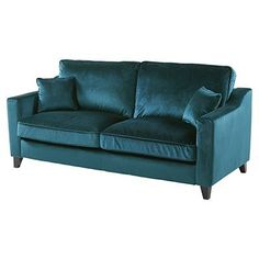 Buy Tate Velvet Large 3 Seater Sofa, Teal from our Fabric Sofas range - Tesco Teal Sofa, Tesco Direct, Buy Sofa, Comfy Sofa, 3 Seater Sofa, Fabric Sofa, Living Room Sofa, First Home, Sofa Furniture