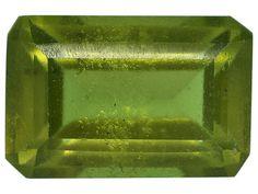 Kenyan green idocrase minimum .60ct 6x4mm emerald cut. Gemstone mined in Kenya and cut India.