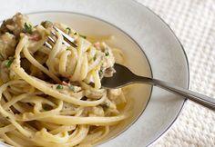 Špagety s tuňákem ve smetanové omáčce