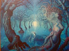 Surrealism and Visionary art: Joep Hommerson Mystic Garden, Love The Earth, Visionary Art, Fantastic Art, Amazing, Magical Creatures, Pictures To Draw, Box Art, Illustration Art