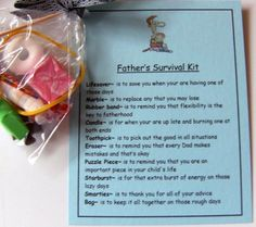Father's Survival Kit Cute gift for Dads by heart2homepromo