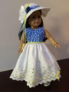 Eyelet dress, Hat & Shoes by Jobasi Creations