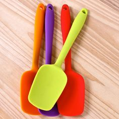 Home Kitcken Silicone Mixing Spoon Utensil Cake Putty Spatula Bakeware Home Tableware