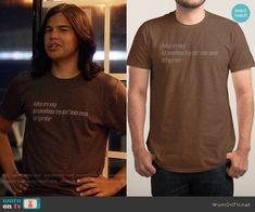 Cisco's refrigerator haiku t-shirt on The Flash.  Outfit Details: https://wornontv.net/81979/ #TheFlash