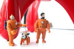 Tintin figurines • destination moon • Tintin, Herge j'aime