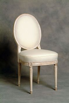Wonderful Small Oval Back French Dining Chair