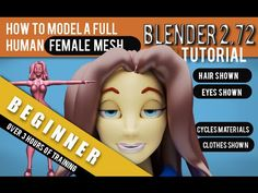 How To Model A Full 3d Female Mesh Blender 2.72a Tutorial