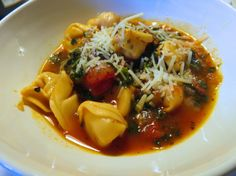 Weight Watchers Italina Spinach and Tortellini Soup