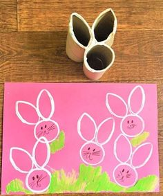 These adorable toilet paper roll Easter crafts are perfect for young kids. basket ideas crafts crafts for kids decor ideas decorations Easter Crafts For Toddlers, Preschool Crafts, Paper Towel Roll Crafts, Paper Crafts, Diy Crafts To Sell, Diy Crafts For Kids, Bunny Crafts, Diy Easter Decorations, Spring Crafts