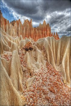 Red Tsingy- a fantastic geological formation at North of Madagascar.
