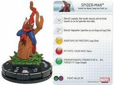 Spider-Man #024 Marvel 10th Anniversary Heroclix Singles