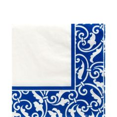 $2.17 16ct Royal Blue Ornamental Scroll Lunch Napkins 16ct - Party City