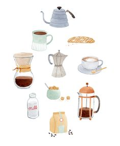 coffee drawing 6 Stupendous Tips: Coffee Design Shabby Chic coffee interior classic.Coffee Cake In A Mug fall coffee background. Coffee Illustration, Watercolor Illustration, Watercolour, Coffee Drawing, Coffee Design, Art Design, Paper Design, Food Illustrations, Framed Art Prints