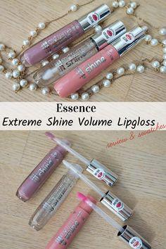 My review of vegan and cruelty-free Essence Extreme Shine Volume Lipglosses. Beauty Review, Purple Rain, Liquid Lipstick, Lip Balm, Cruelty Free, Lip Gloss, Swatch, Beaded Bracelets, Vegan