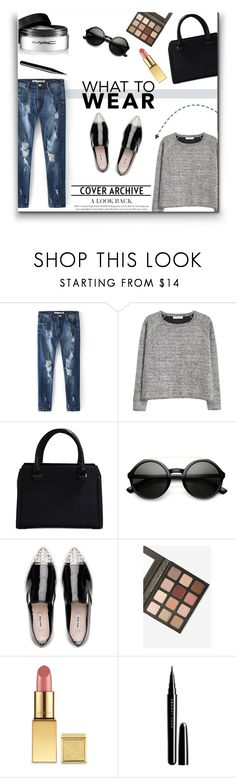 """What to Wear : Black Friday Shopping"" by emma-avigdor ❤ liked on Polyvore featuring MANGO, Victoria Beckham, ZeroUV, Miu Miu, Sigma, Marc Jacobs, MAC Cosmetics, shoptilyoudrop and polyvorefashion"