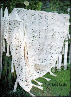 Vintage Crochet PATTERN Motif Bedspread Chicago Lacy