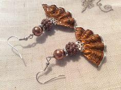 """Boucles d'oreille """"Marron glacé """" http://www.alittlemarket.com/boutique/magie_encapsulee-803147.html"""