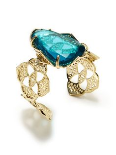Something new, something blue, and something that pops! (Kendra Scott Jewelry Geometric Floral Cuff Bracelet)