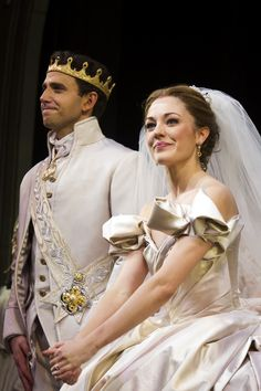 Cinderella Laura Osnes and Santino Fontana appear at the curtain call for the Broadway premiere of Rodgers + Hammersteins Cinderella on Sunday, March 2013 in New York. (Photo by Charles Sykes/Invision/AP) Rodgers And Hammerstein's Cinderella, Cinderella Broadway, Cinderella Costume, Broadway Theatre, Musical Theatre, Broadway Shows, Laura Osnes, Theatre Nerds, New York