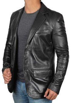 Real Lambskin Brown Leather Mens Blazer - Soomro Mens Leather Blazer, Lambskin Leather Jacket, Faux Leather Jackets, Leather Men, Brown Leather, Men Blazer, Windbreaker Jacket, Jacket Style, Jacket Men