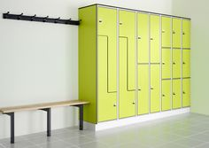 Changing Room Lockers - Changing Room Lockers Protec changing room lockers are a flexible and secure locker system with a strong aluminium carcassand Solid Grade Laminate (SGL) doors making the whole system totally water resistant and the perfect choice for school toilets, campsites, office and commercial washrooms.  Featuring a satin anodised carcass providing a robust structure, each individual lockerhas an easy to clean injection moulded interior tray and anti-finger trap safety hinge…