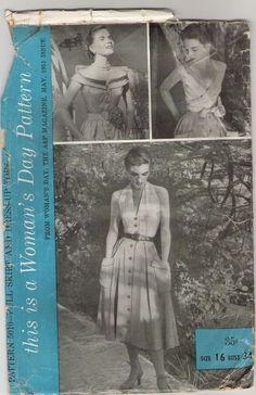 Woman's Day 5010 ©1951 full skirt & dress-up tops