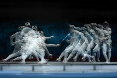 South Korea's Kim Junghwan (R) fencing against Romania's Tiberiu Dolniceanu by Toshifumi Kitamura #fencing #sabre #olympics2012