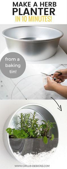 contenitori di alluminio per poantine aromatiche in cucina ,in esposizione ,bellissima idea i cont enitori diGrill. si trovano a ikea.