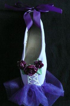 Decorative pointe shoe - purple tutu. $15.99, via Etsy.