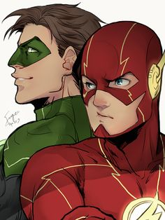 Flash & Green Lantern -- it would be SO COOL if they brought in GL on the CW show Flash!