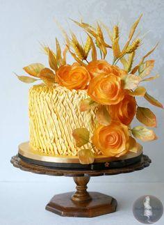#Cake #Amazing #Wheat #Flowers #Rose