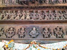 wood carving in 600 years old Hidamba temple in Manali