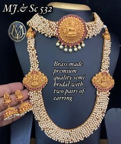 Buy Premium Quality Semi Bridal with Pearls for Wedding from ShopnSafe.com at best price.An exclusively designed engagement ring and wedding band set together encrusted with sparkling white diamonds and a round brilliant cut solitaire. Find a wide range of Bridal Set Jewellery Collection at our online store ShopnSafe. #jewelry #fashion #handmade #jewellery #earrings #accessories #handmadejewelry #gold #necklace #love #jewelrydesigner #style #silver #jewelrydesign #ring #bracelet #jewelryadd
