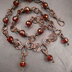 Wire Necklace, Wire Wrapped Necklace, Metal Necklaces, Metal Jewelry, Beaded Jewelry, Handmade Jewelry, Ethnic Jewelry, Stone Jewelry, Jewelry Design