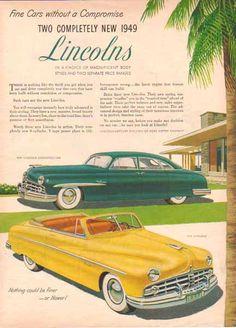 1949 Lincoln Convertible and Lincoln Cosmopolitan Sport Sedan