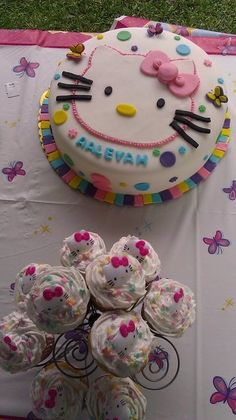 Hello Kitty again, plus a side of cupcakes which are a good take home party piece.