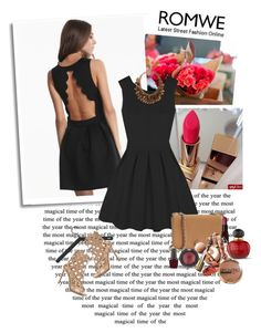 """""""Little black dress"""" by car69 ❤ liked on Polyvore featuring Skagerak, Gianvito Rossi, Tory Burch, H&M, Topshop, OPI, Christian Dior and romwe"""