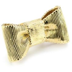 """Kate Spade New York """"All Wrapped Up"""" Gold Bow Ring Size 7"""