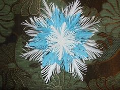 Fluffy paper snowflake