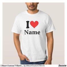 "Shop Custom ""I Love"" (""I Heart"") - Your 2 Letters T-Shirt created by Stark_Raving_Realist. Heart Shirt, Love Shirt, Shirt Style, T Shirt Custom, Custom T, Design T Shirt, Shirt Designs, T Shirt Original, I Love Mom"