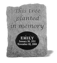 usa-made-cast-stone-memorial-tree-plaque - nice idea for the loss of any special person or pet.